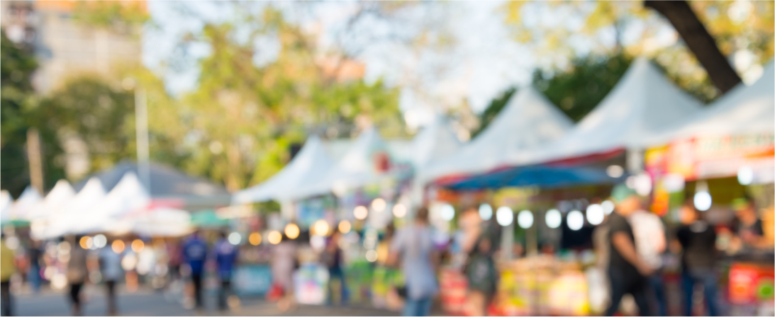 Central Coast Family Event Market stalls